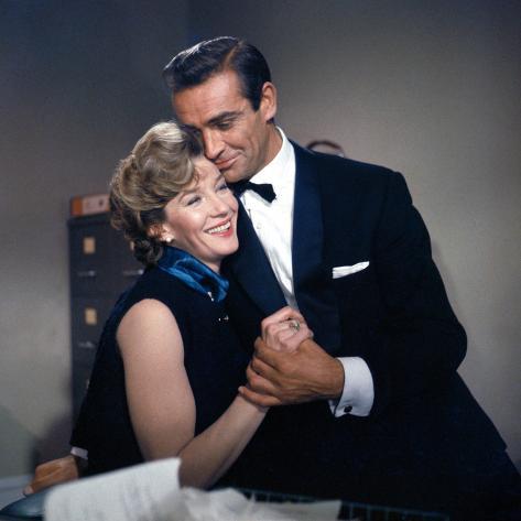 Dr. No, Lois Maxwell, Sean Connery, 1962 Photo