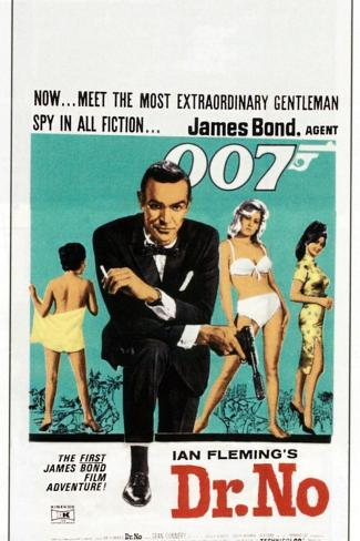 Dr. No, Sean Connery, South African poster, 1962 Art Print