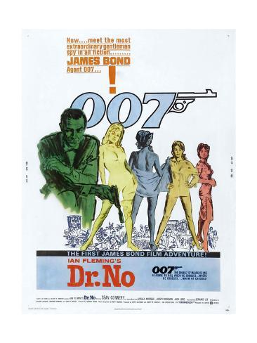 Dr. No, US poster, Sean Connery, 1962 アートプリント