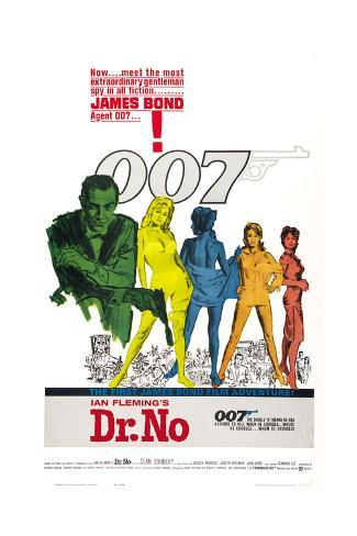 DR. NO, US poster, Sean Connery, 1962 Art Print