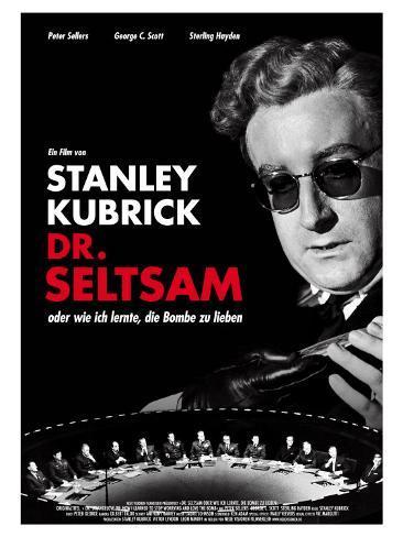 Dr. Strangelove, German Movie Poster, 1964 Stampa artistica