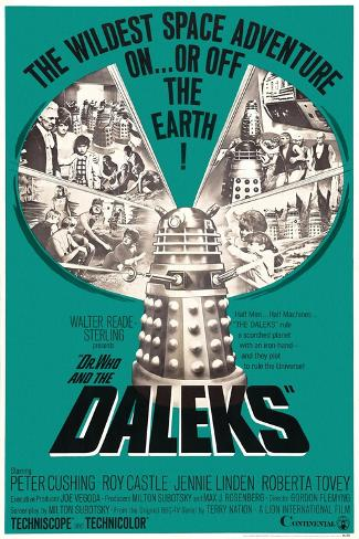 Dr. Who and the Daleks, 1965 Giclee Print