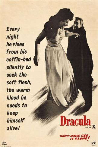 Dracula, 1958 Giclee Print