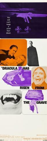 Dracula Has Risen From The Grave, Christopher Lee, Veronica Carlson, 1968 Impressão artística