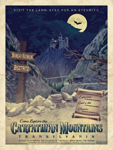 Dracula - Universal Monsters Vintage Travel Lithograph Poster