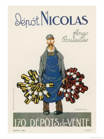Poster for the Nicolas Chain of Wine Shops France Giclee Print