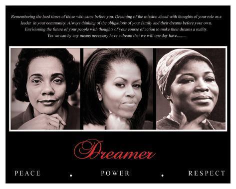 Dreamer (Trio): Peace, Power, Respect Art Print