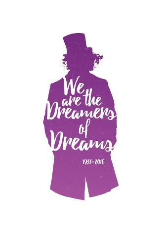 Dreamers Of Dreams (Purple Silhouette) Poster