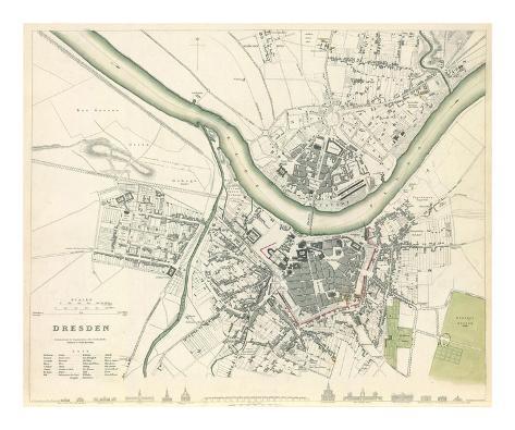 Dresden, Germany, c.1833 Art Print