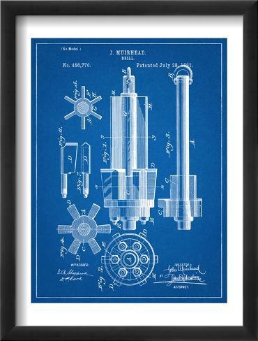 Drill Tool Patent Framed Art Print