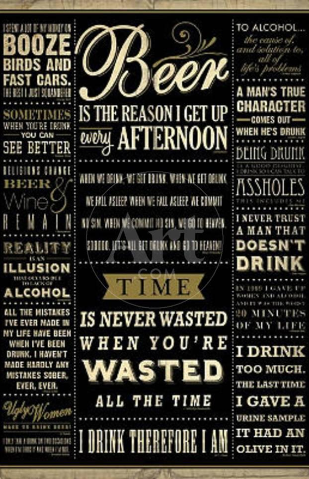 Drinking Quotes College Poster Print Prints At Allposterscom