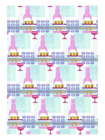 Drinks and keypads Stretched Canvas Print