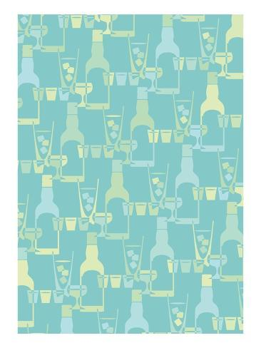 Drinks Stretched Canvas Print