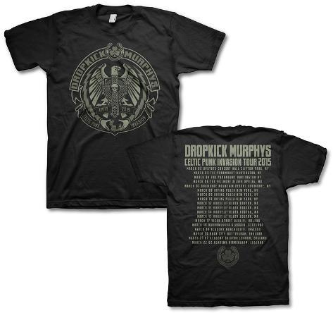 Dropkick murphy 39 s celtic punk invasion 2015 tour front for Dropkick murphys mural