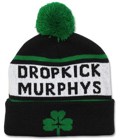 Dropkick murphys shamrock woven beanie beanie for Dropkick murphys mural