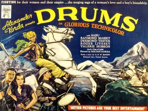 Drums, Valerie Hobson, Sabu, 1938 Photo