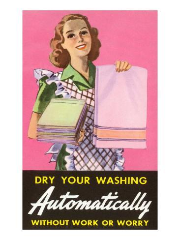 Dry Your Washing Automatically Art Print