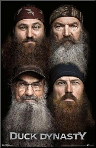 Duck Dynasty Beards Mounted Print