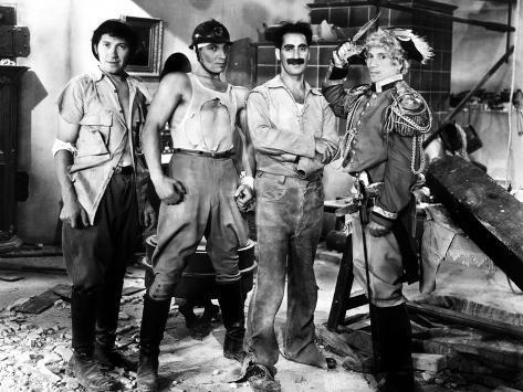 Duck Soup, Chico Marx, Zeppo Marx, Groucho Marx, Harpo, 1933 Foto