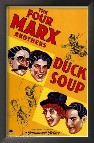 Duck Soup Impressão artística emoldurada