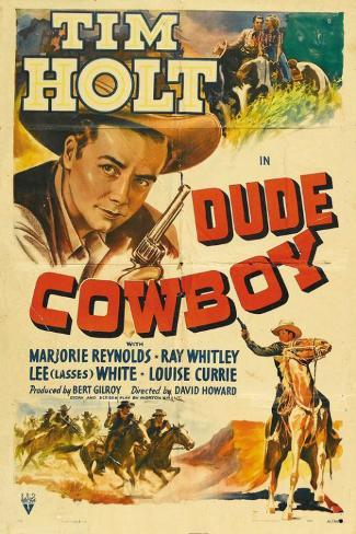 Dude Cowboy Masterprint
