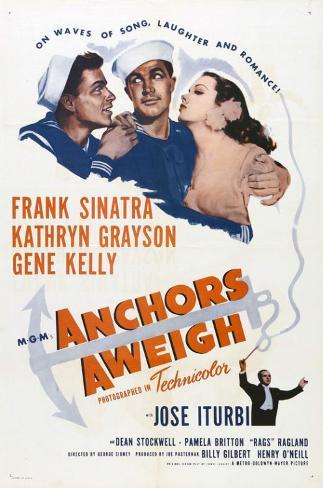 Due marinai e una ragazza Stampa master