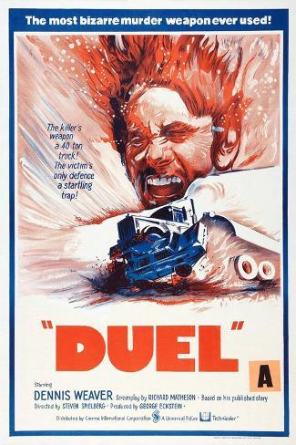 Duel, New Zealand poster, Dennis Weaver, 1971 Art Print