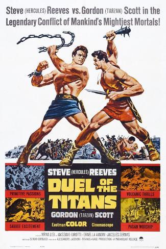 Duel of the Titans, (aka Romolo E Remo), Steve Reeves, Gordon Scott, 1961 Stampa artistica