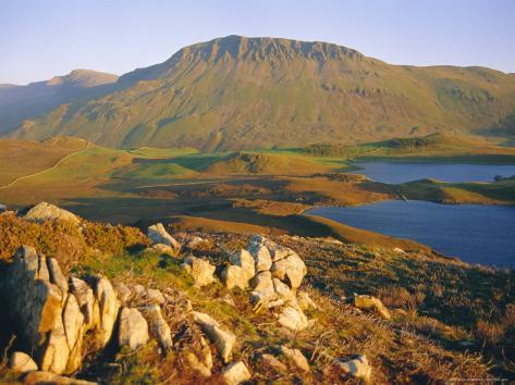 Cadair Idris Mountain and Gregennen Lake (National Trust), Snowdonia National Park, Gwynedd Photographic Print