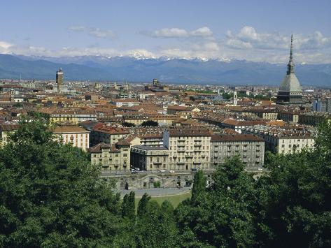 City Centre and the Alps, Torino (Turin), Piemonte (Piedmont), Italy, Europe Photographic Print
