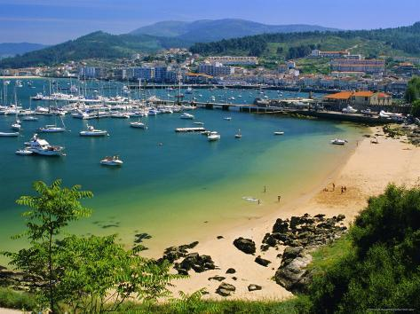 The Harbour at Bayona, Galicia, Spain, Europe Photographic Print
