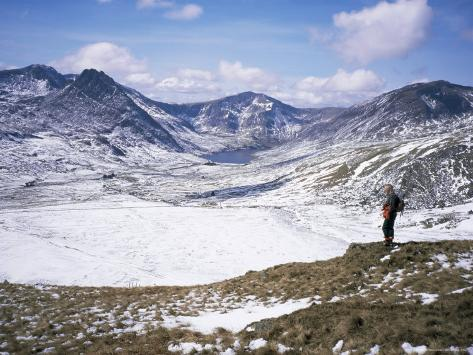 Winter Walking in the Carneddau Mountains, Snowdonia National Park, Wales, United Kingdom Photographic Print