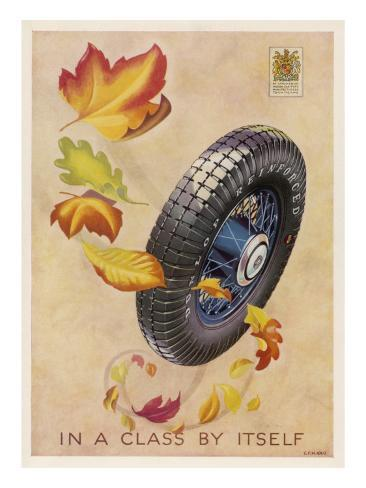 Dunlop Tyres - in a Class by Itself Stampa giclée