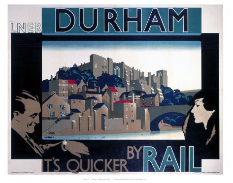 Durham, by Rail Art Print