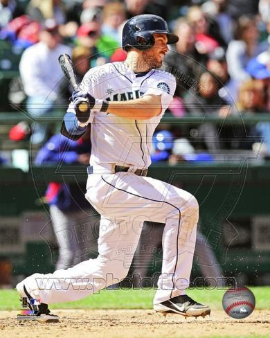 Dustin Ackley 2013 Action Photo