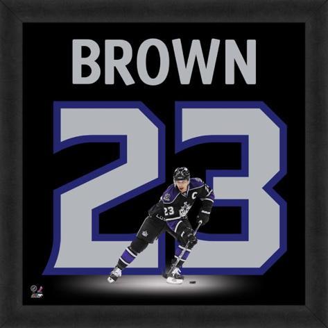 Dustin Brown, Kings representation of the player's jersey Framed Memorabilia