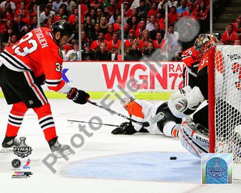 Dustin Byfuglien Game Five of the 2010 NHL Stanley Cup Finals Goal Photo