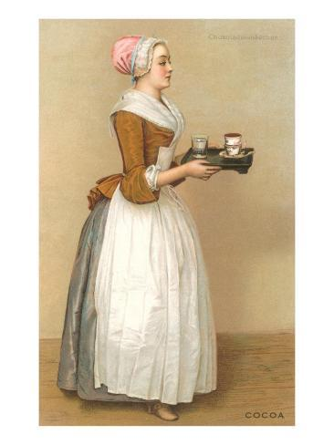 Dutch Maid Carrying Chocolate Taidevedos