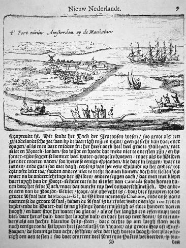 New Amsterdam in 1655, the Oldest known View of Fort Nieuw Amsterdam Giclee Print