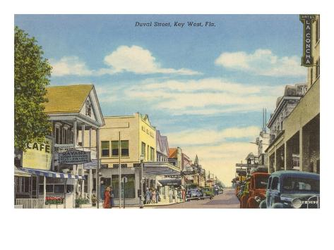 Duvat Street, Key West, Florida Konstprint