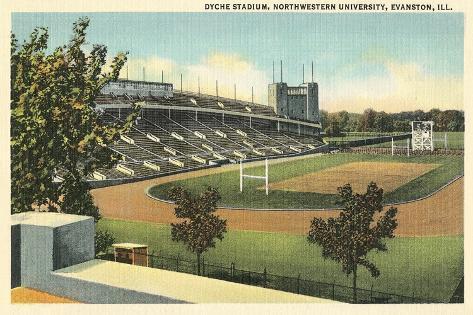 Dyche Stadium, Northwestern University Print - AllPosters ...