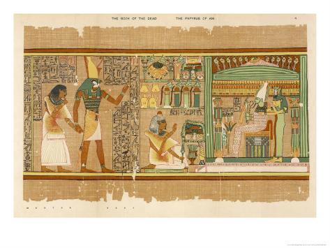 Papyrus of Ani the Dead Ani Judged Innocent is Presented by Horus to Osiris Giclee Print