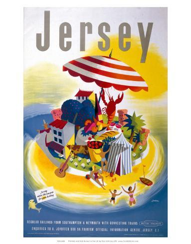 Jersey, BR, c.1948-1965 Art Print