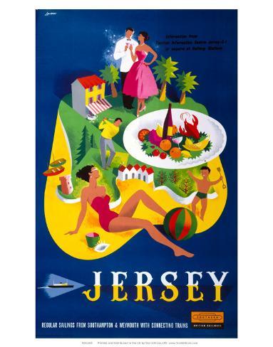 Jersey, BR, c.1959 Art Print