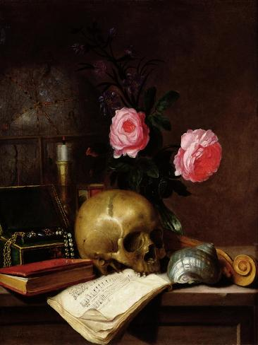 Still Life with a Skull Giclee Print