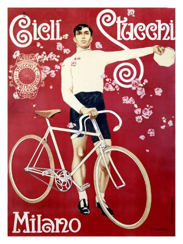 Cicli Stucchi Milano Giclee Print