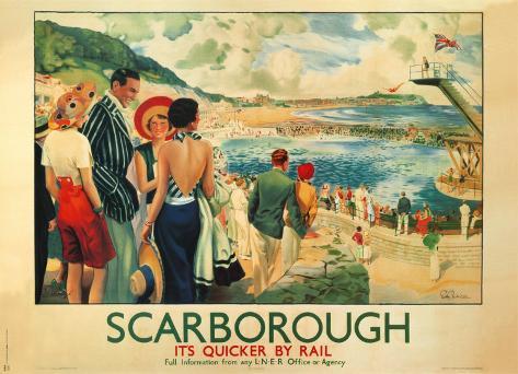 Scarborough, 1928 Art Print