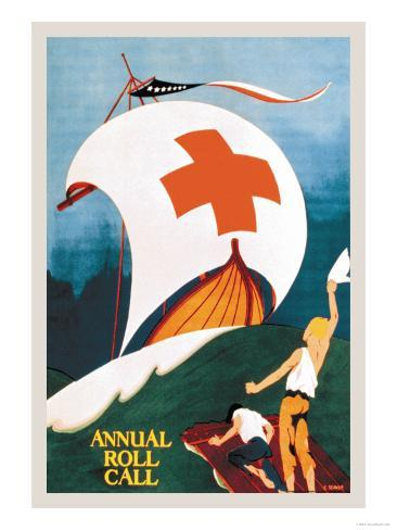 Red Cross Annual Roll Call Art Print