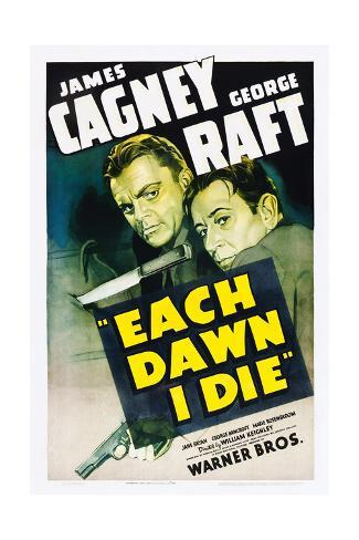 EACH DAWN I DIE, from left: James Cagney, George Raft, 1939. Art Print