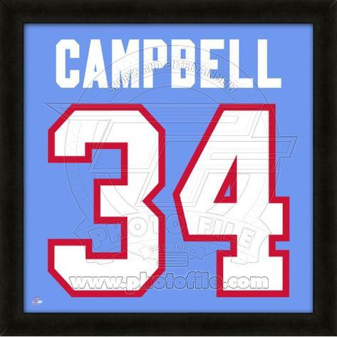 Earl Campbell, Oilers representation of the player's jersey Framed Memorabilia